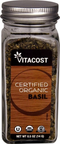 Vitacost Certified Organic Basil Perspective: front