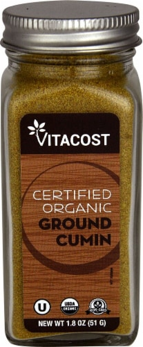 Vitacost  Certified Organic Ground Cumin Perspective: front
