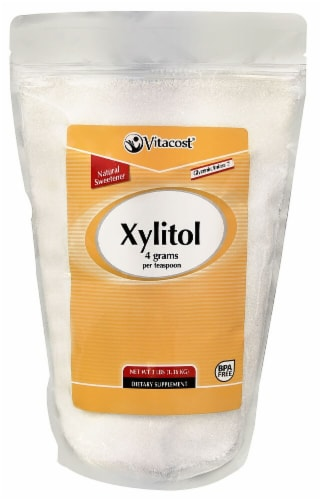 Vitacost Xylitol Natural Sweetener Perspective: front