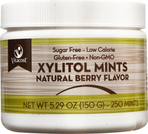 Vitacost Xylitol Berry Mints Perspective: front