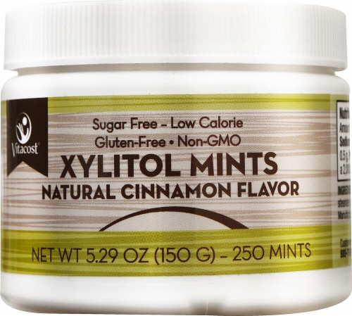 Vitacost Xylitol Cinnamon Mints Perspective: front
