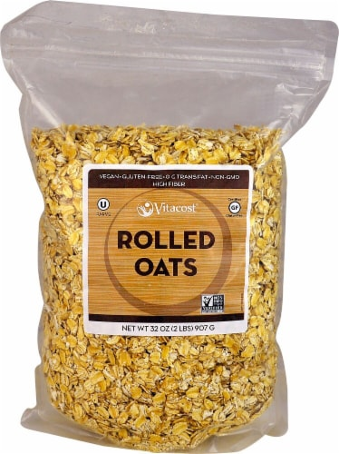 Vitacost  Rolled Oats Gluten Free - Non-GMO Perspective: front