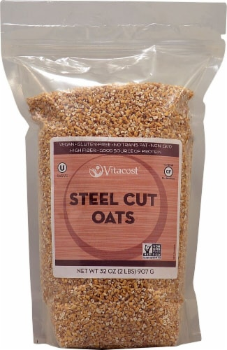 Vitacost  Steel Cut Oats Gluten Free - Non-GMO Perspective: front