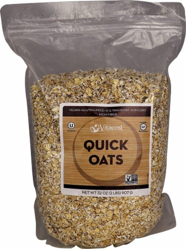 Vitacost  Quick Oats Gluten Free - Non-GMO Perspective: front