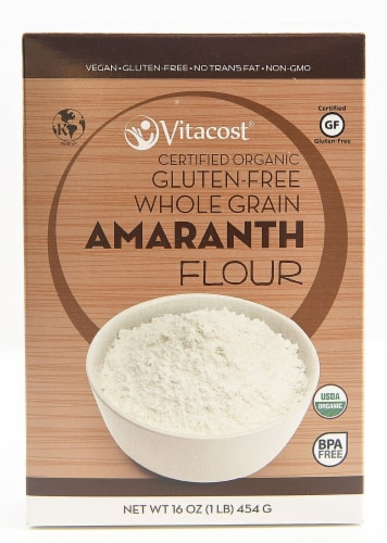 Vitacost Certified Organic Gluten Free Amaranth Flour Perspective: front