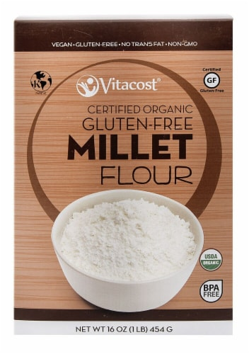 Vitacost Certified Organic Gluten Free Millet Flour Perspective: front