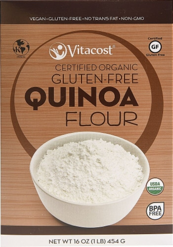 Vitacost  Certified Organic Gluten Free Quinoa Flour Perspective: front