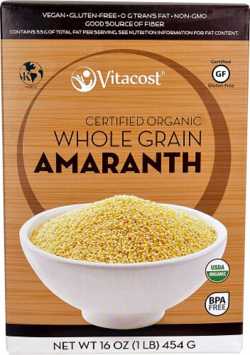 Vitacost Certified Organic Whole Grain Amaranth Perspective: front