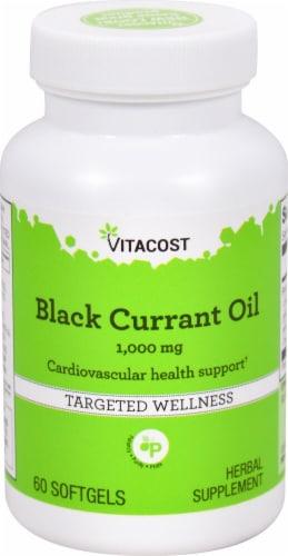 Vitacost Black Currant Oil Softgels 1000mg Perspective: front