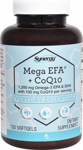 Vitacost  Synergy Mega EFA and CoQ10 Perspective: front