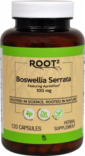 Vitacost  ROOT2 Boswellia Serrata Featuring ApresFlex Perspective: front
