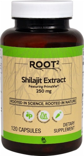 Vitacost ROOT2 Shilajit Extract Capsules 250mg Perspective: front