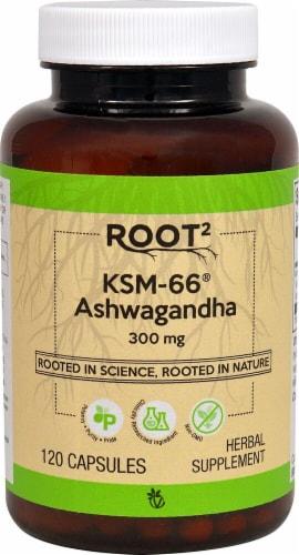 Vitacost ROOT2 KSM-66 Ashwagandha Capsules 300mg Perspective: front