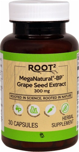 Vitacost  ROOT2 MegaNatural®-BP™ Grape Seed Extract Perspective: front