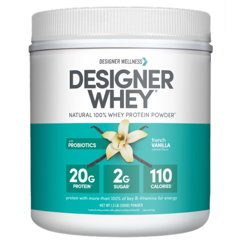 Designer Whey French Vanilla Powder Perspective: front
