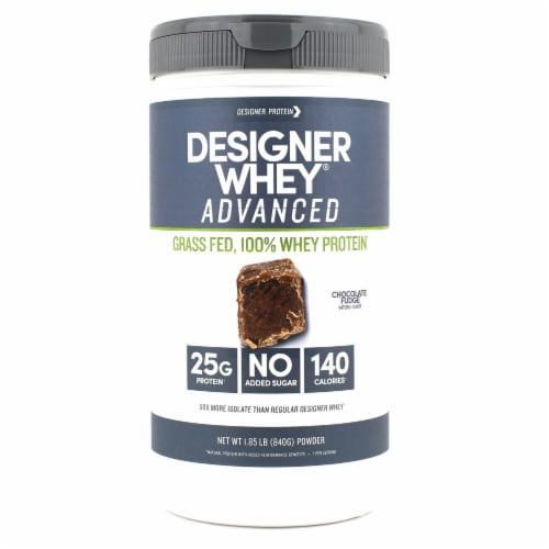 Designer Protein  Advanced   Chocolate Fudge Perspective: front