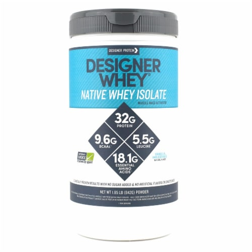 Designer Protein Designer Whey Native Whey Isolate Vanilla Milkshake Perspective: front