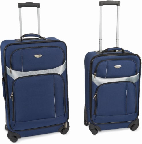 North Pak Milano Spinner Luggage Set - Blue Perspective: front