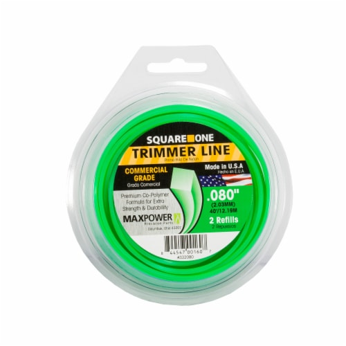 Max Power Square One Trimmer Line - 2 Pack - Green Perspective: front