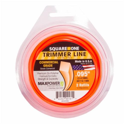 MaxPower Precision Parts Square Cut Trimmer Line Refills - Orange Perspective: front