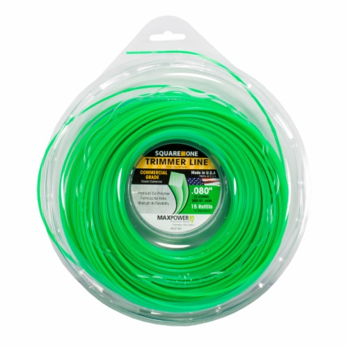 MaxPower Square-Shaped Trimmer Line - Green Perspective: front