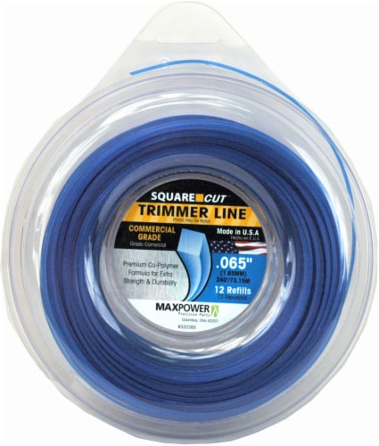 MaxPower Precision Parts Square-Shaped Trimmer Line - 12 Pack - Blue Perspective: front