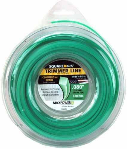 MaxPower Precision Parts Square Cut Trimmer Line Refills - Green Perspective: front