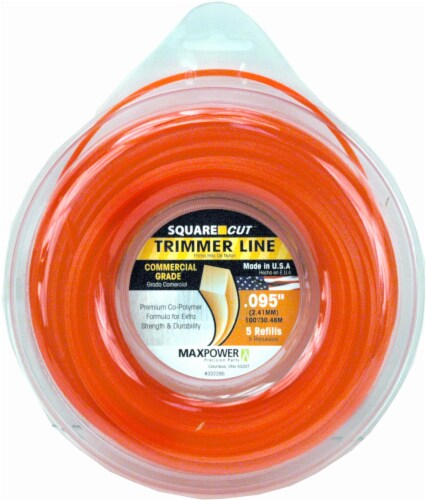 MaxPower Precision Parts Square Cut Trimmer Line Refills - Orange Perspective: front