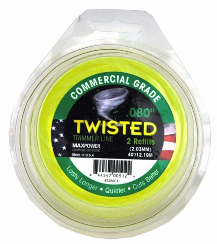 MaxPower Twisted Trimmer Line Perspective: front