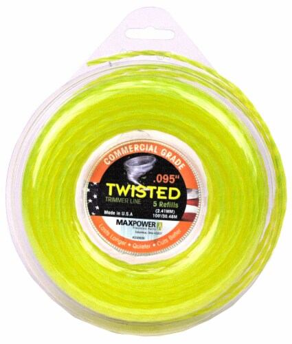 MaxPower Precision Parts Twisted Trimmer Line Refills - Optic Yellow Perspective: front