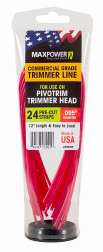 MaxPower Precision Parts PivoTrim Trimmer Line Replacement Strips - Red Perspective: front