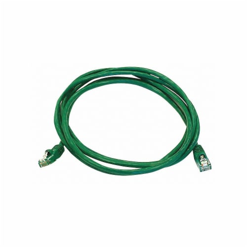 Monoprice Patch Cord,Cat 5e,Booted,Green,7.0 ft.  2140 Perspective: front