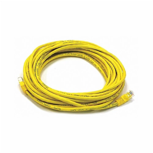 Monoprice Patch Cord,Cat 6,Booted,Yellow,25 ft.  2319 Perspective: front
