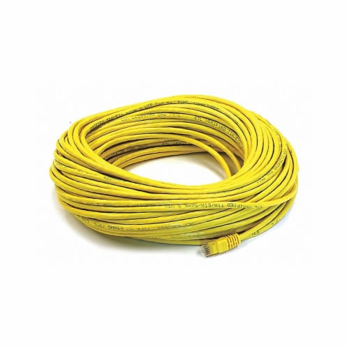 Monoprice Patch Cord,Cat 6,Booted,Yellow,100 ft.  2332 Perspective: front