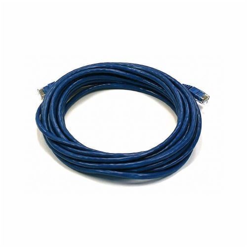 Monoprice Patch Cord,Cat 6,Booted,Blue,20 ft.  5009 Perspective: front