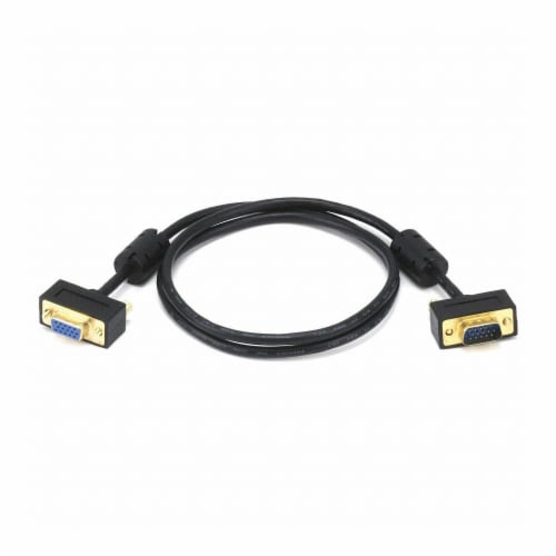 Monoprice A/V Cable, Ultra Slim SVGA M/F,3Ft  6369 Perspective: front