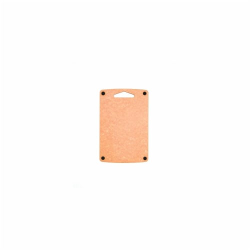 Epicurean Prep Non-Slip Cutting Board - Natural & Black Button Perspective: front