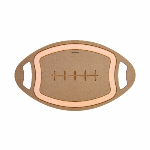 Epicurean Football 20 in. L x 12 in. W x 0.25 in. Wood Fiber Cutting Board - Case Of: 4; Perspective: front