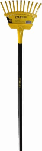 Stanley® Accuscape Super Flex Shrub Rake - Yellow/Black Perspective: front