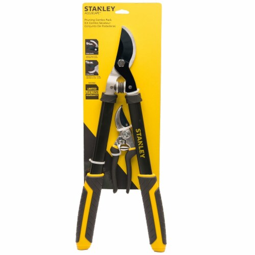 Stanley® Accuscape™ Pruner Set - Yellow/Black Perspective: front