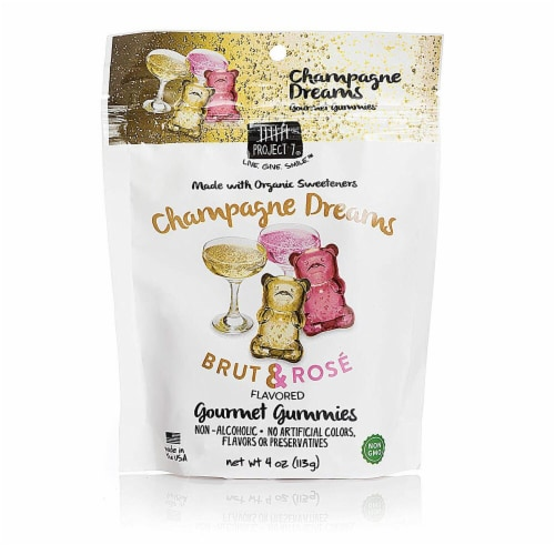 Project 7  Gourmet Gummies Champagne Dreams   Brut & Rose Perspective: front