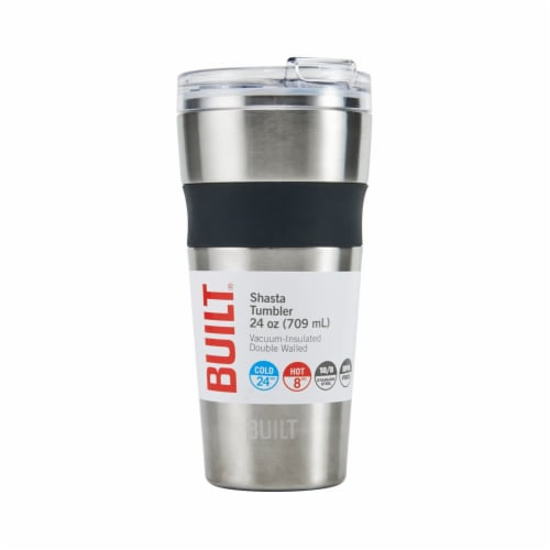 Built Shasta Stainless Steel Vacuum-Insulated Tumbler - Silver Perspective: front