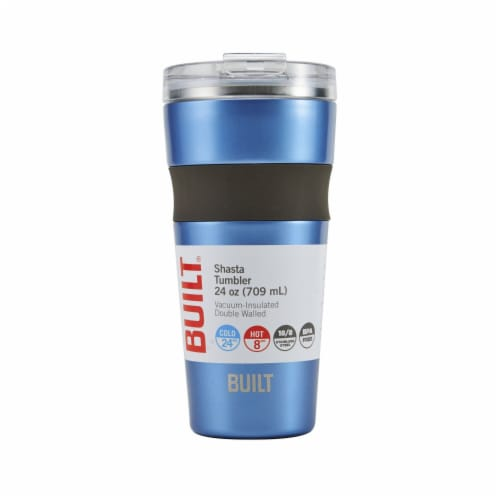 Built Shasta Stainless Steel Vacuum-Insulated Tumbler - Blue Perspective: front