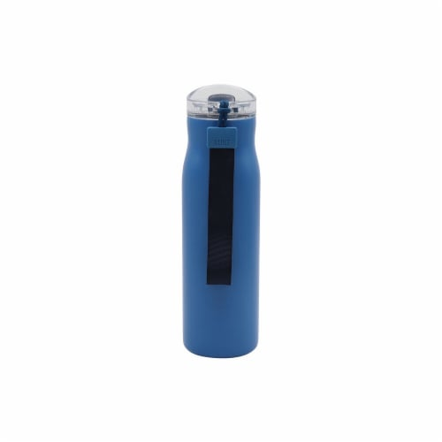 Built TiltSport Stainless Steel Water Bottle - Medium Blue Perspective: front