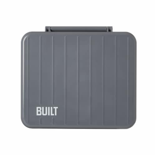 Built Bento Lunchbox with Utensils - Gray Perspective: front