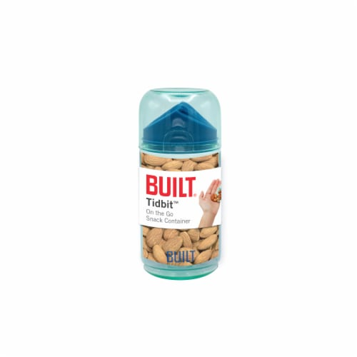Built Tidbit Snack Container - Blue Perspective: front