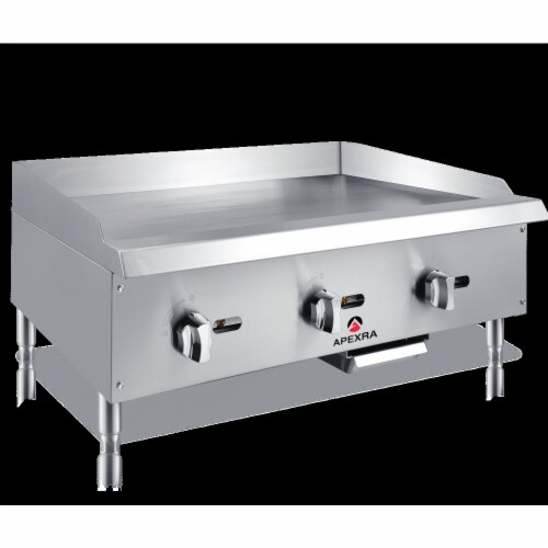 Apexra APMG-36LP 36 in. Manual Griddle, 90000K BTU LP Perspective: front