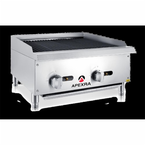 Apexra APRB-24NG 24 in. Radiant Charbroiler, 70000K BTU NG Perspective: front
