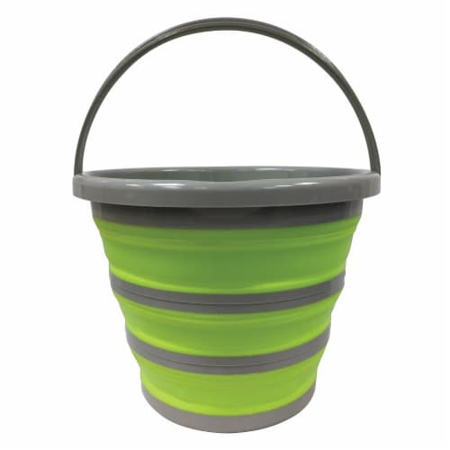 Centurion Collapsible Bucket - Lime Green/Gray Perspective: front