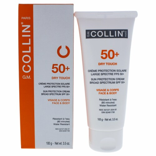 50 Plus Dry Touch Sun Protection Cream by G.M. Collin for Unisex - 3.5 oz Sunscreen Perspective: front